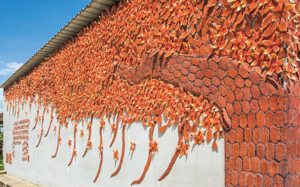 瓊林聚落紅磚樹牆
